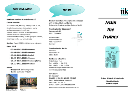 Train the Trainer - in English herunterladen