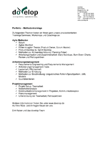 dovelop-Portfolio Methodentranings herunterladen