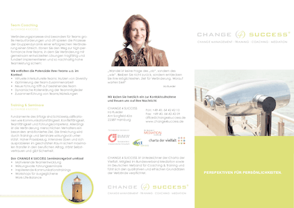 CHANGE 4 SUCCESS - Flyer herunterladen